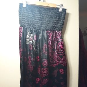 Metal mulisha tube dress sz L